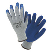 Anchor Products Latex Coated Gloves, Medium, Blue/Gray, 12 Pair, #6030M