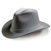 OccuNomix Vulcan Cowboy Hard Hats, Ratchet, Gray, 1/EA, #VCB20011