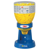 3M E-A-Rsoft Yellow Neons Earplugs 391-1005, in One Touch Dispenser Refill Bottle, Large Size, Polyurethane, Yellow, Uncorded, 400/BO, #7100001858