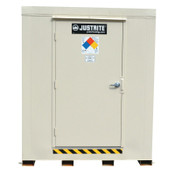 Justrite 4-Hour Fire-Rated Outdoor Safety Locker, Explosion Relief, (4) 55-gallon drums, 1/EA, #913041