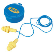 3M E-A-R Ultrafit Earplugs, Elastomeric Polymer, Yellow, Corded, Carrying Case, 50/BX, #7000002322