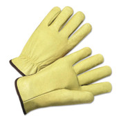 Anchor Products 4900 Series Standard Grain Pigskin Driver Gloves, Medium, Unlined, Tan, 12/DOZ, #994M
