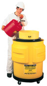 Eagle Mfg Spill Containment Drums, Yellow, 65 gal,  33 in x 31 in, 1/EA, #1612