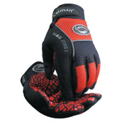 Caiman Silicon Grip Gloves, Medium, Red/Black, 1/PR, #2951M