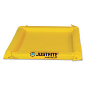 Justrite Maintenance Spill Containment Berms, Yellow, 5 gal, 2 ft x 2 ft, 1/EA, #28414