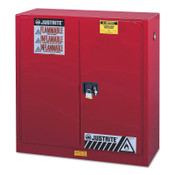 Justrite Safety Cabinets for Combustibles, Self-Closing Cabinet, 40 Gallon, Red, 1/EA, #893031