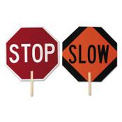 TrafFix Devices, Inc. Stop/Slow Paddles, 5 ft Wood Handle, 1/EA, #18024SSNS