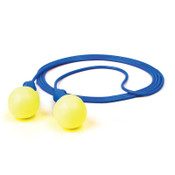 3M E-A-R Push-Ins SofTouch Earplug 318-1003, Polyurethane,Blue/Yellow, Corded, 200/BX, #7000052723