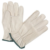 Anchor Products 4000 Series Quality Grain Cowhide Leather Driver Gloves, Medium, Unlined, Natural, 12/DOZ, #990IM