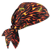 Ergodyne Chill-Its 6710CT Evaporative Cooling Triangle Hats w/ Cooling Towel, Flames, 6/CA, #12588