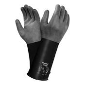 Ansell AlphaTec Butyl Gloves, Rough, Size 8, Black, 1/PR, #103202
