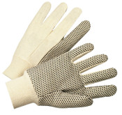 Anchor Products 1000 Series Dotted Canvas Gloves, Cotton Canvas, Heavy Nap, Men's, White, 12/DZ, #781K
