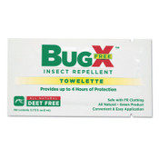 First Aid Only BugX DEET Free Insect Repellent Towelette, 1/CA, #18830