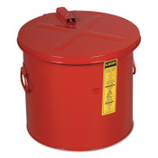 Justrite Dip Tanks, Hazardous Liquid Cleaning Tank, 8 gal, Red, 1/EA, #27608