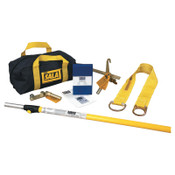 Capital Safety First-Man-Up Remote Anchoring Systems, D-Ring/O-Ring, 6-12 ft Pole, 1/EA, #2104527