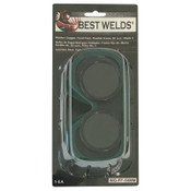 Best Welds Fixed Front Flex Goggles, Green, Shade 5, Vinyl, 1/EA, #WGFF50MM