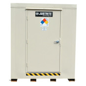 Justrite 4-Hour Fire-Rated Outdoor Safety Locker, Explosion Relief, (2) 55-gallon drums, 1/EA, #913021