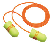 3M E-A-Rsoft SuperFit Earplugs 311-1254, Polyurethane, Red/Yellow, Corded, 200/BX, #7000002307