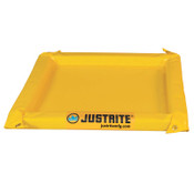 Justrite Maintenance Spill Containment Berms, Yellow, 20 gal, 48 in x 48 in, 1/EA, #28418