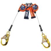 Capital Safety Nano-Lok Edge Twin-Leg Self-Retracting Lifeline w/Rebar Hooks, 8 ft, 310lb Cap, 1/EA, #3500249