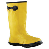 Anchor Products Slush Boots, Size 10, 17 in H, Natural Rubber Latex/Calcium Carbonate, Yellow, 1/PR