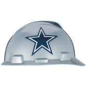 MSA Officially-Licensed NFL V-Gard Helmets, 1-Touch, Dallas Cowboys Logo, 1/EA, #818392