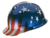 MSA Freedom Series Helmets, Fas-Trac Ratchet, Cap, American Stars & Stripes, 1/EA, #10052945