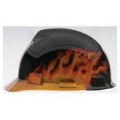 MSA Specialty V-Gard Protective Caps, 4 Point, Cap, Black Fire, 1/EA, #10092015
