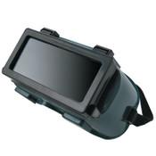 Best Welds Ridged Goggle, Hard Plastic, Green, 1/EA, #WG2414RFF