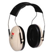 3M Optime 95 Earmuffs, 21 dB NRR, White/Black, Over the Head, 1/EA, #7000009667