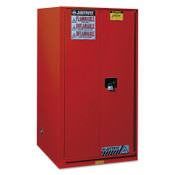 Justrite Safety Cabinets for Combustibles, Manual-Closing Cabinet, 96 Gallon, Red, 1/EA, #896011