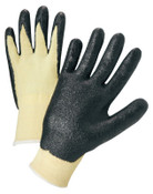Anchor Products Nitrile Coated Kevlar Gloves, Large, Yellow/Black, 1/PR, #6010L