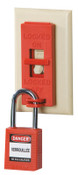 Brady Wall Switch Lock Box, Red, 6/PKG, #65696