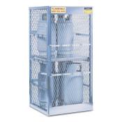 Justrite Aluminum Cylinder Lockers, (8) 20 or 33 lb. Cylinders, 1/EA, #23010
