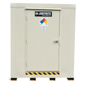 Justrite 2-Hour Fire-Rated Outdoor Safety Locker, Explosion Relief, (6) 55-gallon drums, 1/EA, #912061