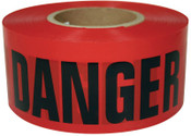 Intertape Polymer Group Barricade Tape, 3 in x 1,000 ft, Red, Danger, 8/CA, #600RD1000
