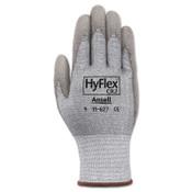 Ansell HyFlex 11-627 Dyneema/Lycra Work Gloves, Size 11, Gray, 12/DZ, #103399