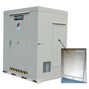 Justrite Non-Combustible Outdoor Safety Locker-Explosion Relief Panels, (2) 55-gal drums, 1/EA, #911021