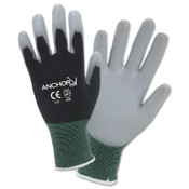 Anchor Products PU Palm Coated Gloves, 2X-Large, Black/Gray, 144/CA, #6080XXL