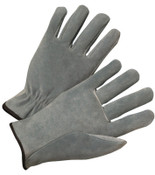 Anchor Products 4400 Series Split Cowhide Leather Driver Gloves, Large, Unlined, Pearl Gray, 12/DOZ, #980L