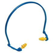 3M E-A-Rflex Hearing Protector with Ultrafit Tips, Blue/Yellow, Banded, 10/BX, #7000052747