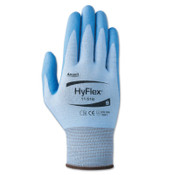 Ansell HyFlex 11-518 Light Cut-Resistant Gloves, Size 10, Blue, 12/DZ, #111711