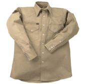 LAPCO 950 Heavy-Weight Khaki Shirts, Cotton, 14-1/2 Long, 1/EA, #LS1412L