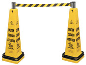 Newell Rubbermaid™ Portable Barricade Systems, 39.8 in H, Yellow, 1/EA, #628700YEL