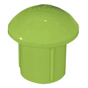 Cortina A-10 Bargard Protector Cap, 2 1/2 in x 3 in, Lime, 100/BX, #9718121