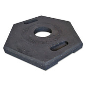TrafFix Devices, Inc. Delineator Tube Base Only, Hex, 18 lb, Rubber, Black, 1/EA, #42000TB18