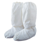 DuPont™ Tyvek IsoClean High Boot Covers with PVC Soles, Medium, White, 200/CA, #IC444SWHMD02000B