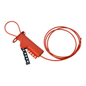 """Brady All Purpose Lockouts with Sheathed Metal Cables, 0.281"""" Dia. Shackle, 8 ft Cable, 1/EA, #50943"""