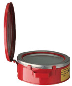 Justrite Bench Cans, Hazardous Liquid Cleaning Can, 2 qt, Red, 1/CAN, #10295
