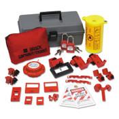 BRADY Electrical Lockout Toolbox Kits with Safety Padlocks, 24 Piece, Gray, 1/KT, #99312